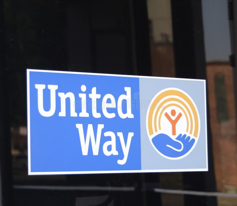 United Way de logo de l'Amérique images libres de droits