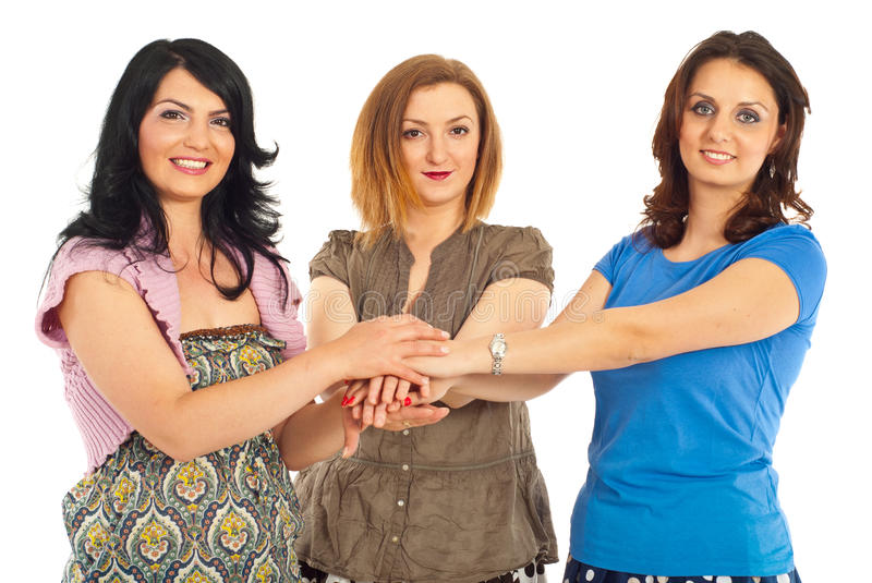 United women friends royalty free stock photo