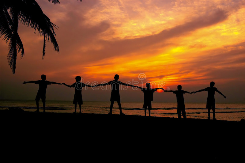 Download Unity stock image. Image of kids, silhouette, teamwork - 2340811