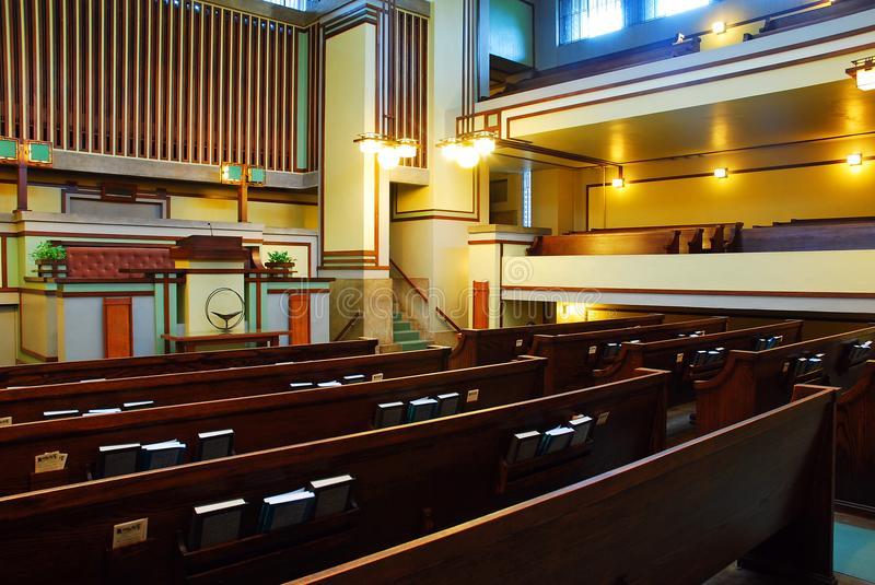 Unity Church Interior stock photography