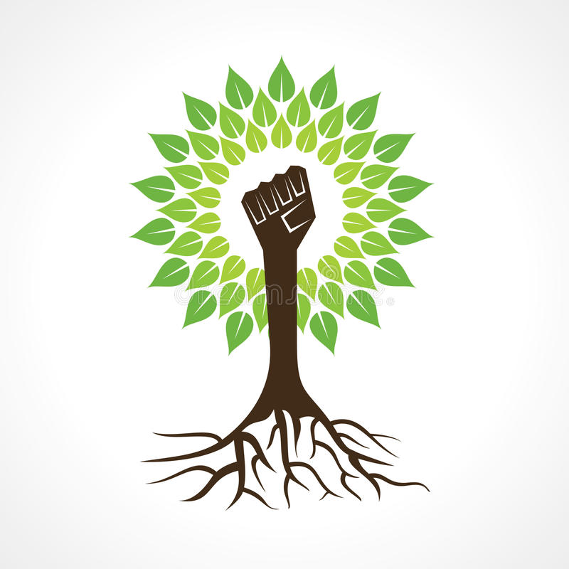 Unity hand make tree royalty free stock images