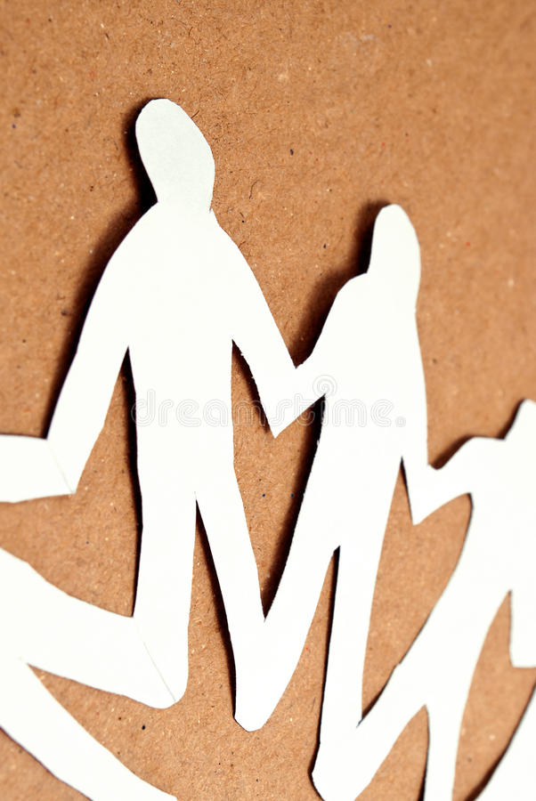 Download Unity paper man stock image. Image of equality, fraternity - 20096927