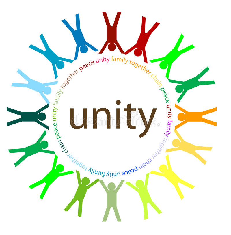 Unity and peace stock images