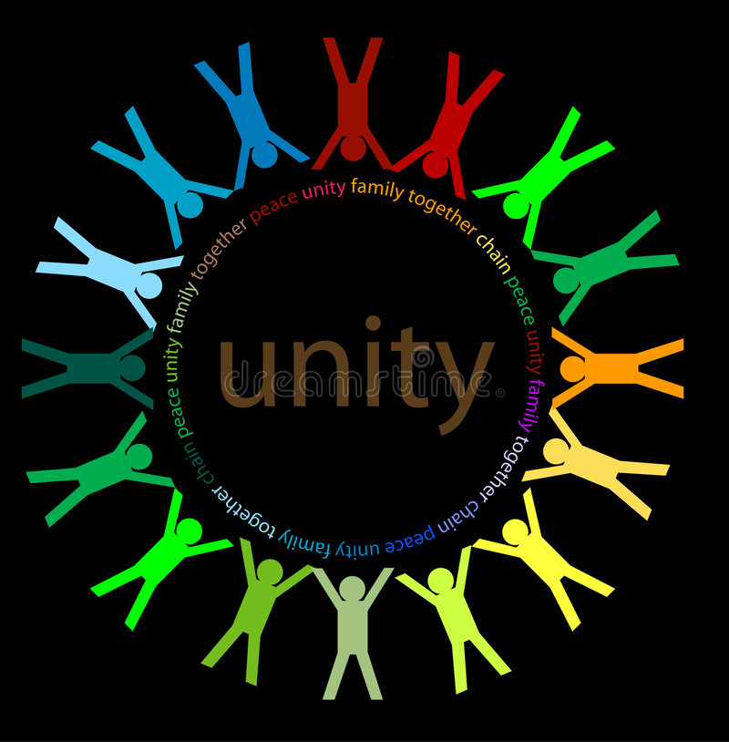 Unity and peace royalty free illustration