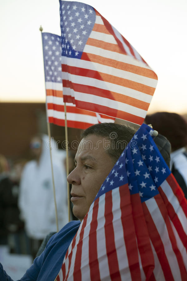 Unity rally, Des Moines, Iowa stock photography