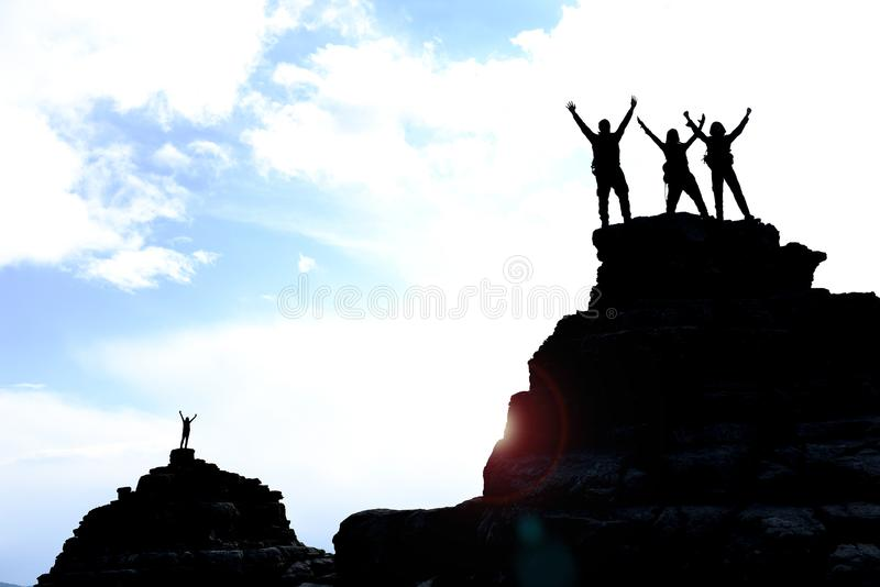 Unity, successful people with a spirit of unity stock photo
