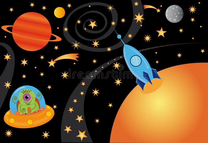 Univers illustration stock