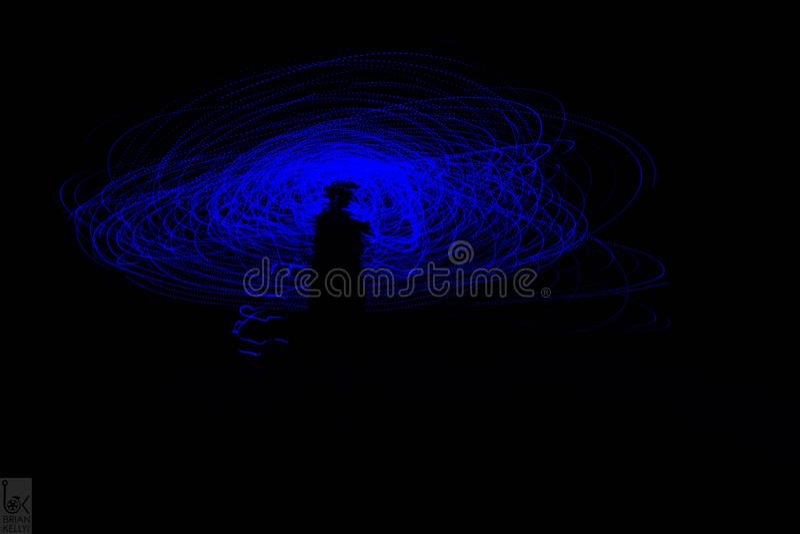 Univers bleu et pourpre photographie stock