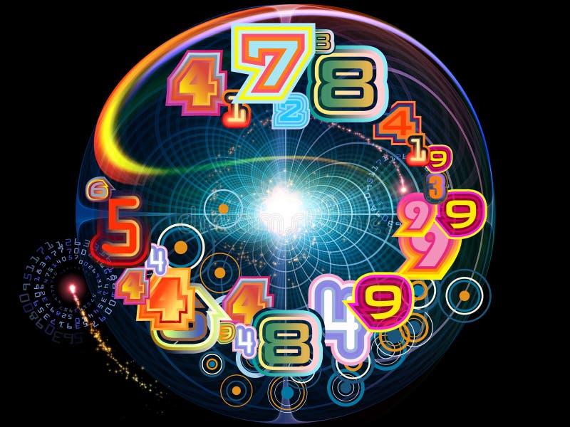 Univers de Digitals illustration stock
