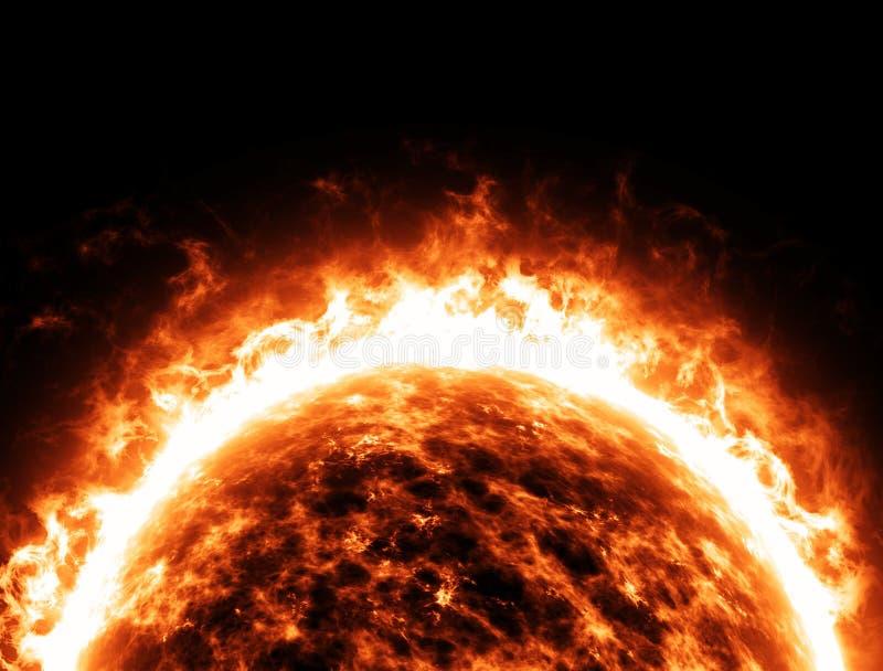 Univers de l'espace d'étoile de Sun illustration stock