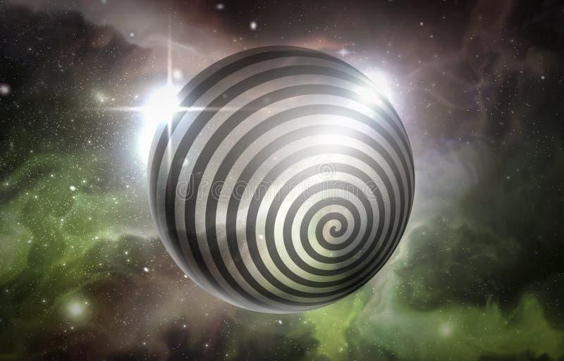 Univers de remous d'hypnose illustration de vecteur
