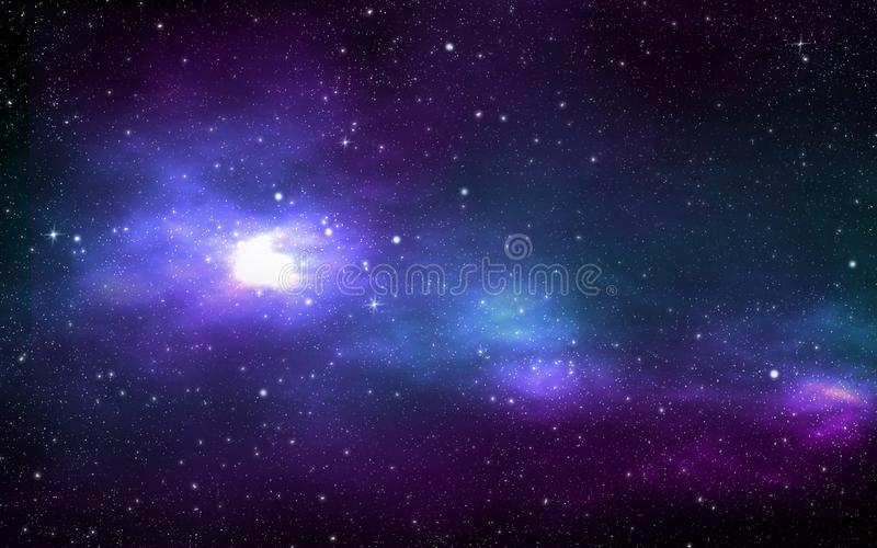 Univers rempli d'étoiles illustration de vecteur