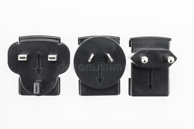 Universal adaptor. Universal adaptor used for chang the format of each outlet stock photo