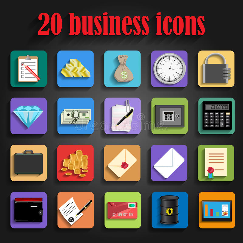 Universal business icon vector royalty free illustration