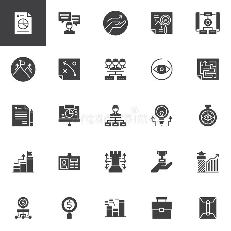 Universal business vector icons set vector illustration