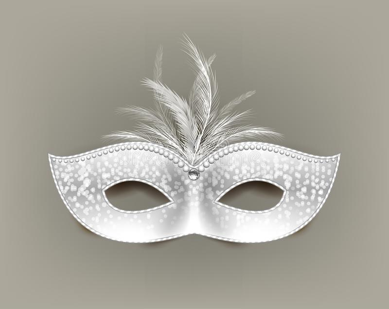 Universal carnival mask with feathers and decorations. royalty free illustration