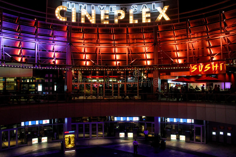 Universal Cineplex located at Universal City in Orlando, Florida. Universal Cineplex at Universal City Walk located in Orlando, Florida stock images