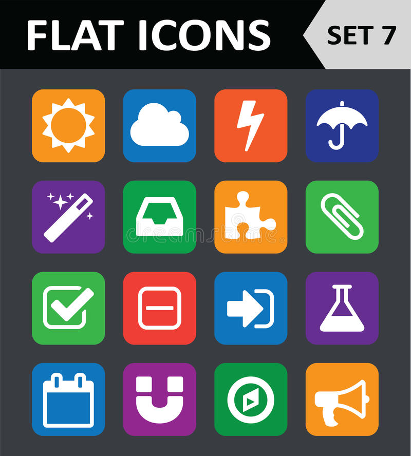 Download Universal Colorful Flat Icons. Stock Vector - Image: 34388184