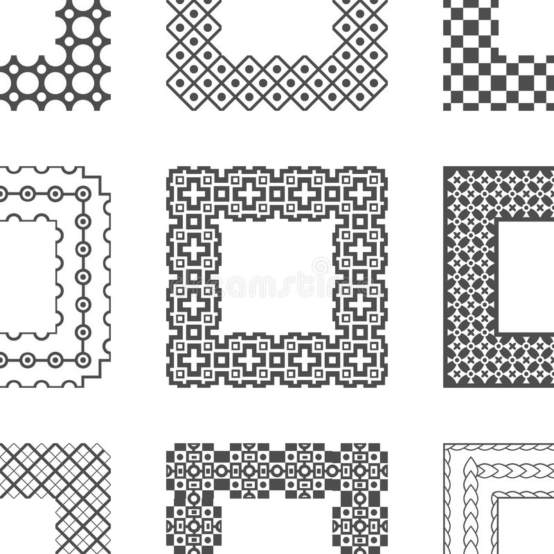 Universal Different Vector Pattern Brushes With Stock Image
