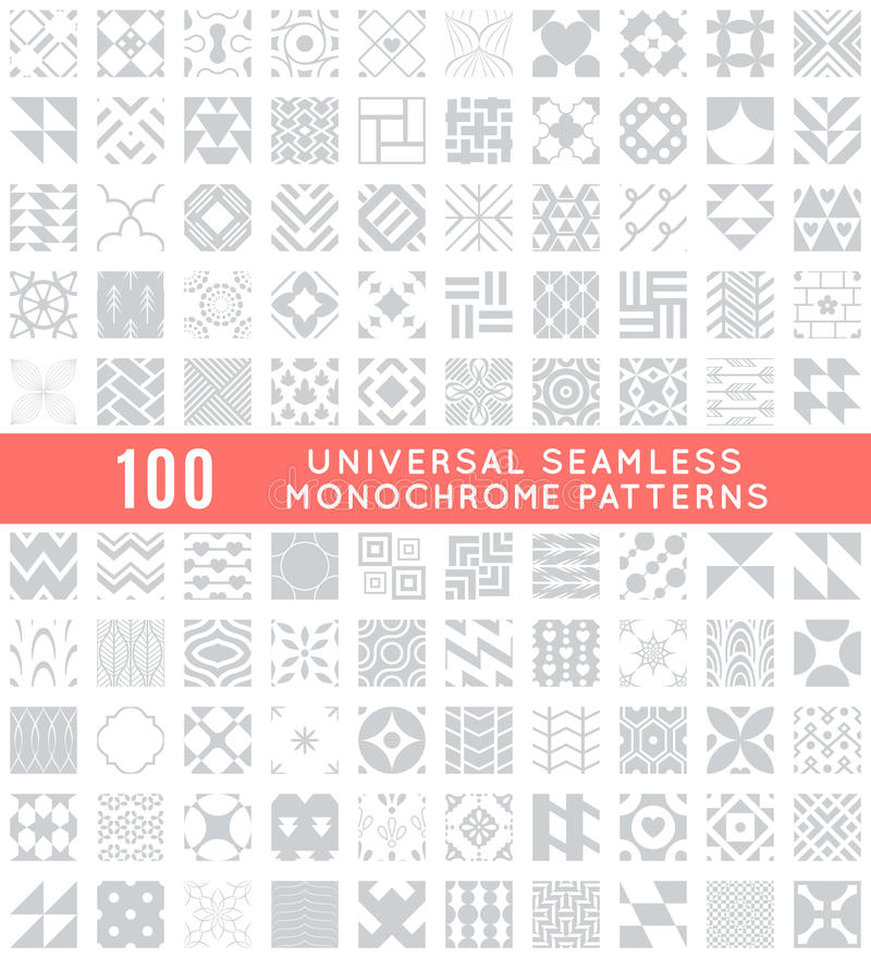 Universal different vector seamless patterns vector illustration