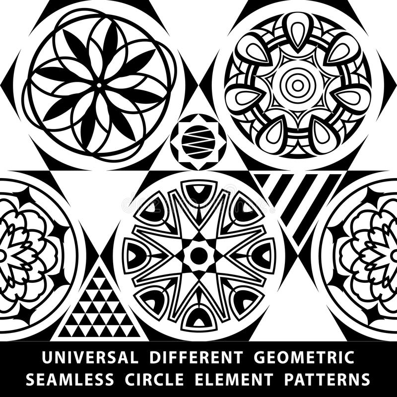 Universal different vector seamless patterns. tiling. Endless texture can be used for wallpaper, pattern fills, web page backgroun vector illustration