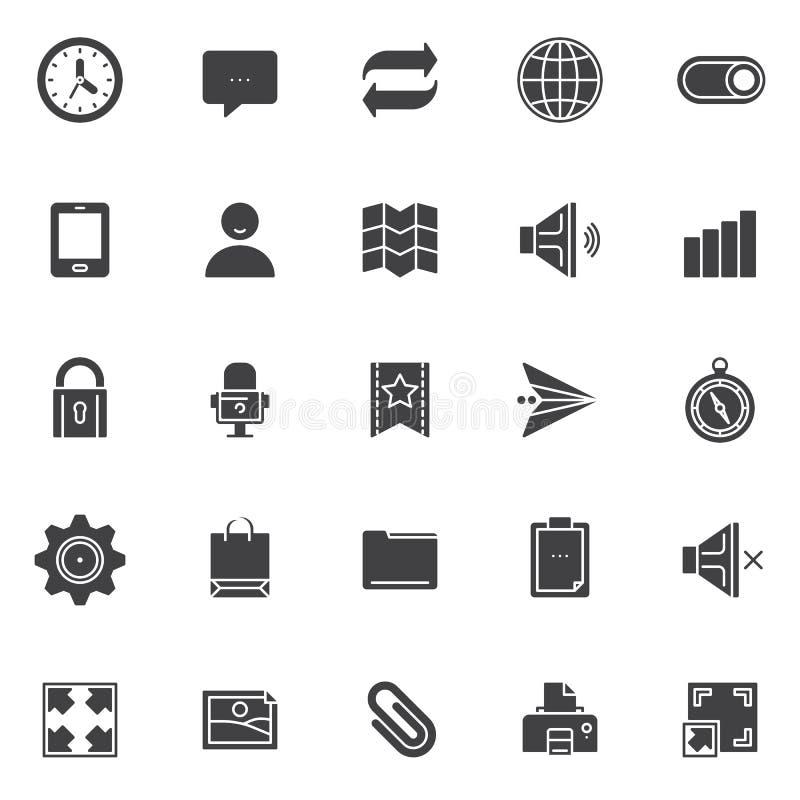 Universal essentials vector icons set stock illustration