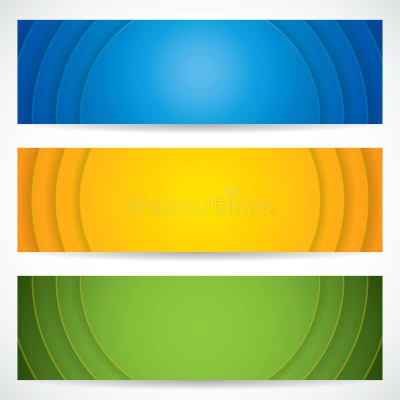 universal för baner tre royaltyfri illustrationer