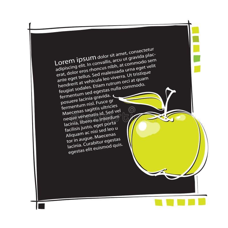universal för sida för äpplesymbolsorientering stock illustrationer