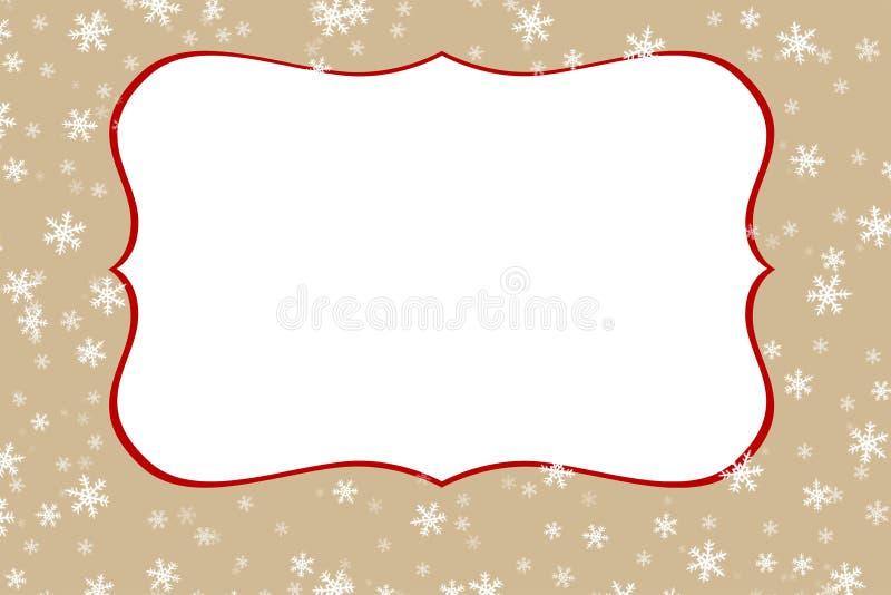 Universal figurerad vinterram med snödroppar royaltyfri illustrationer