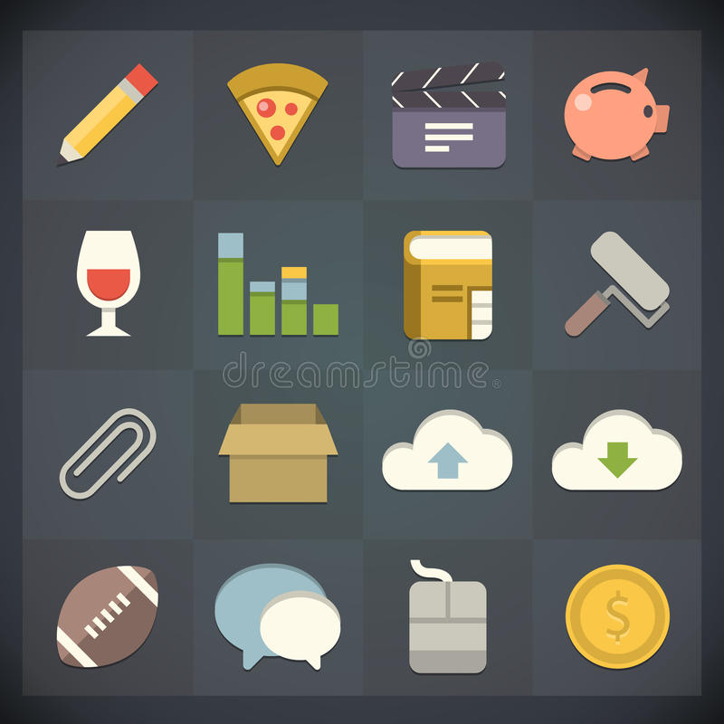 Free Universal Flat Icons For Web And Mobile Set 5 Stock Photos - 31484473