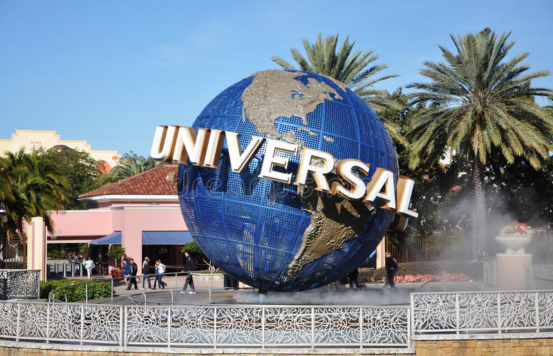 Universal Globe in Universal Orlando, Florida, USA royalty free stock image