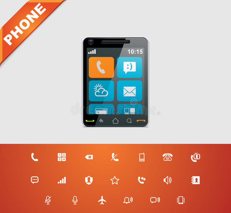 Free Universal Glyphs 12. Phone Symbols 1 Stock Photos - 23090703
