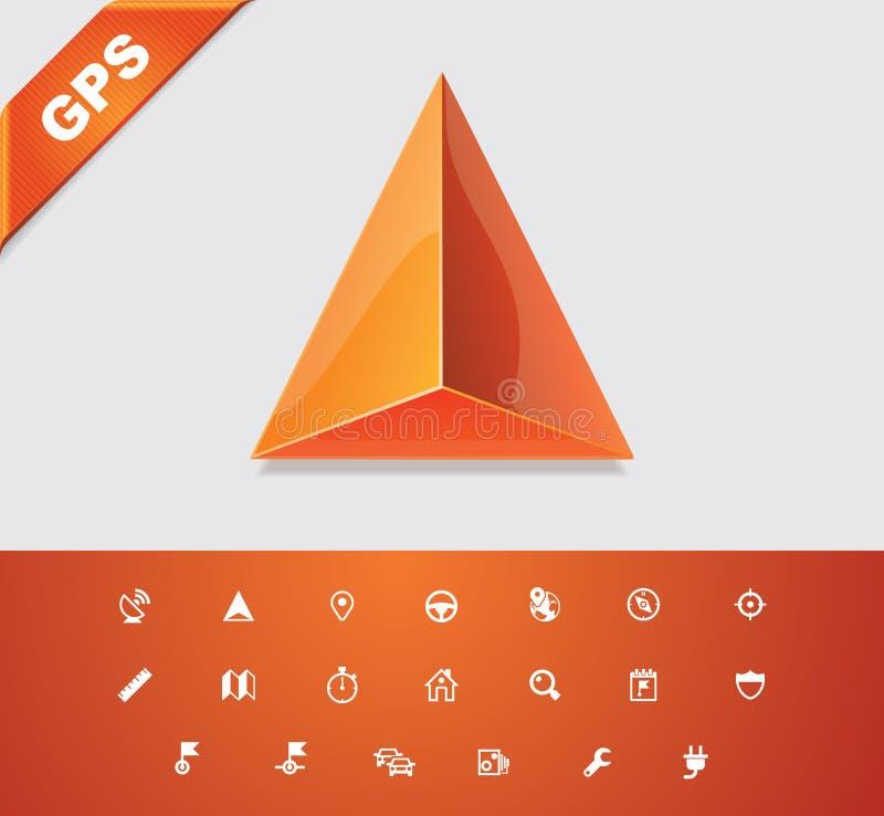 Free Universal Glyphs 18. GPS 1 Royalty Free Stock Photography - 23090807