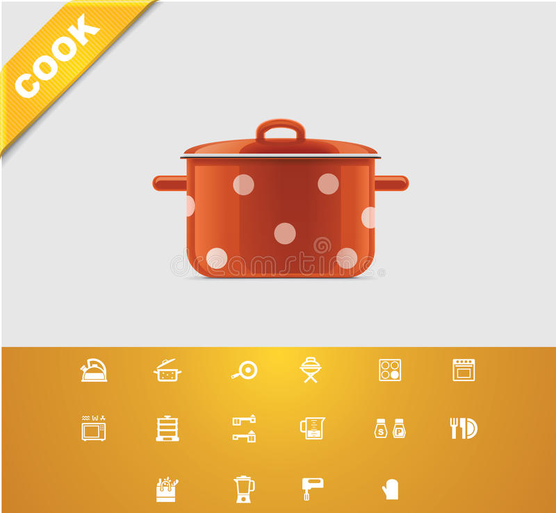 Universal glyphs 22. Cooking royalty free illustration