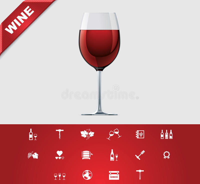 Download Universal Glyphs 24. Wine Royalty Free Stock Photos - Image: 23091768
