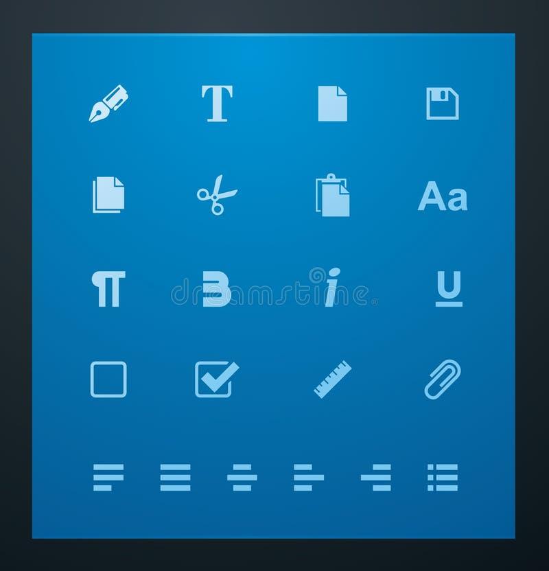 Download Universal Glyphs 6. Text Editing Stock Vector - Illustration: 22530256