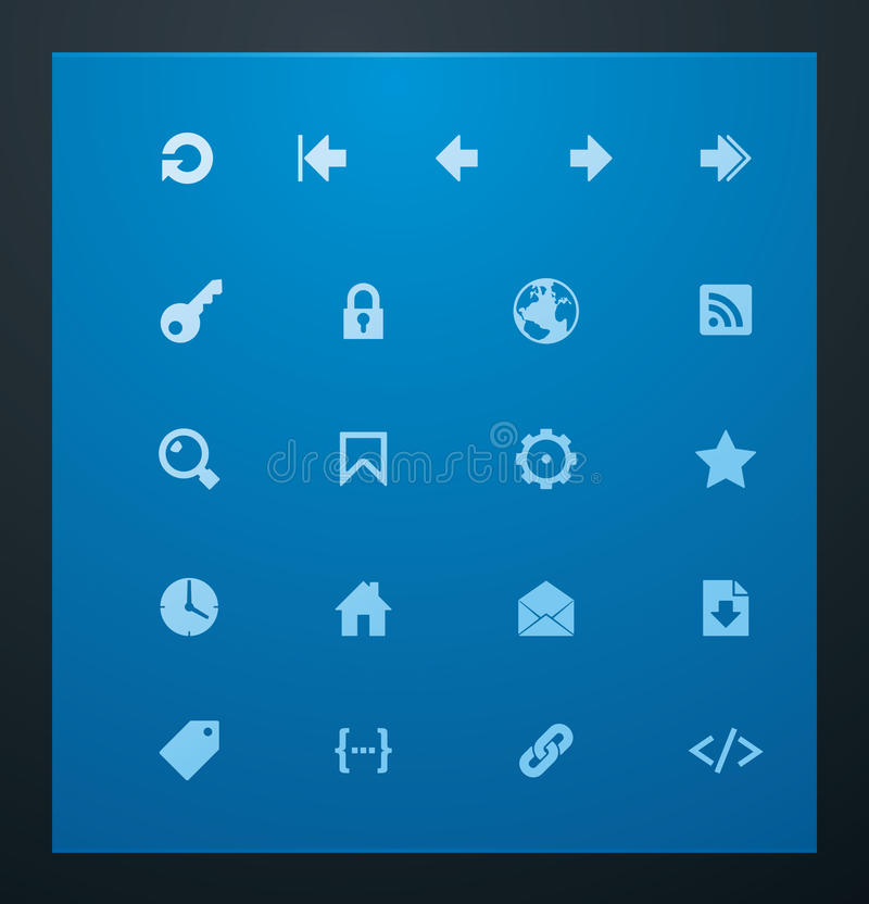 Universal Glyphs 7. Web Icons Royalty Free Stock Photography