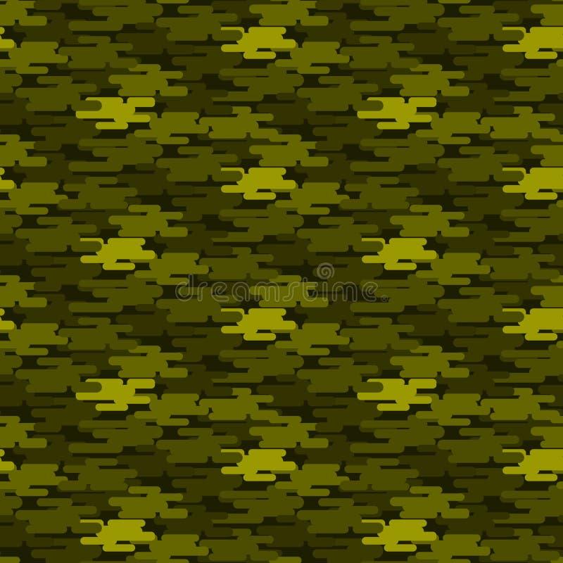 Universal hunter khaki seamless pattern abstract fill military background vector illustration. royalty free illustration