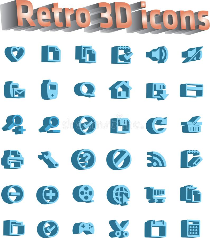 Download Universal Icon Set - Retro 3d Icons Stock Illustration - Illustration of heart, documents: 16547744