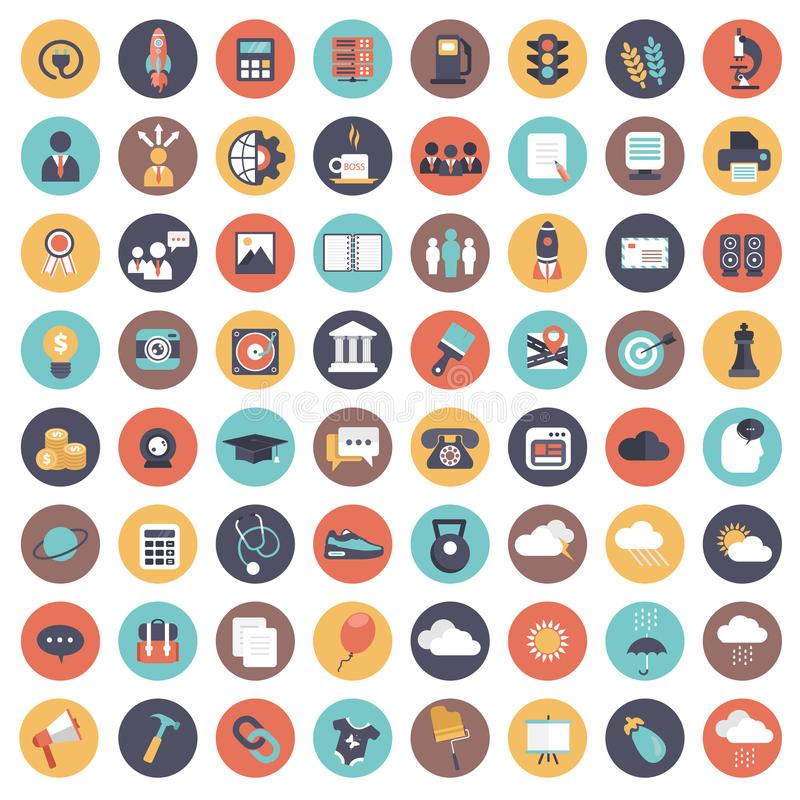 Universal icon set for websites and mobile applications. Flat vector illustration vector illustration