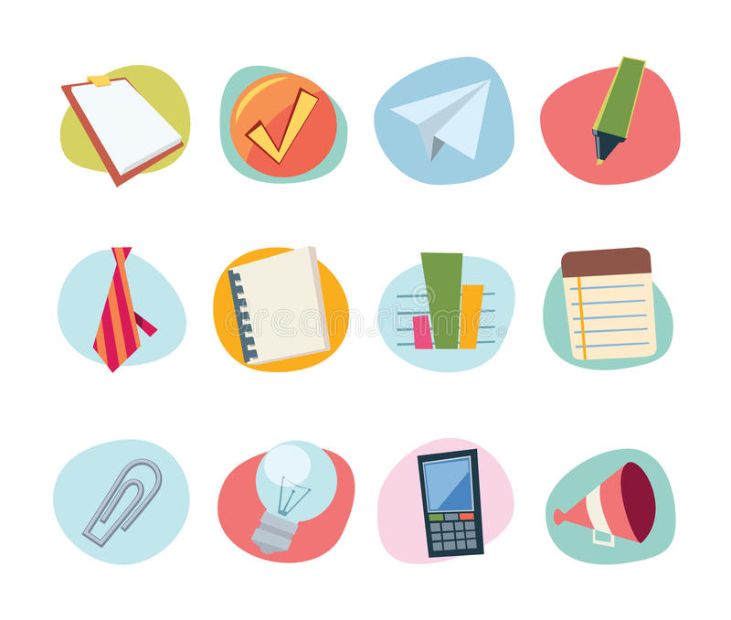 Download Universal Icons Retro Revival Collection - Set 7 Stock Vector - Image: 11950556