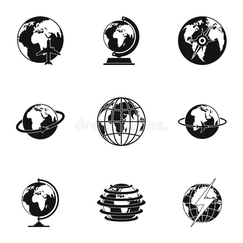 Universal icons set, simple style royalty free illustration