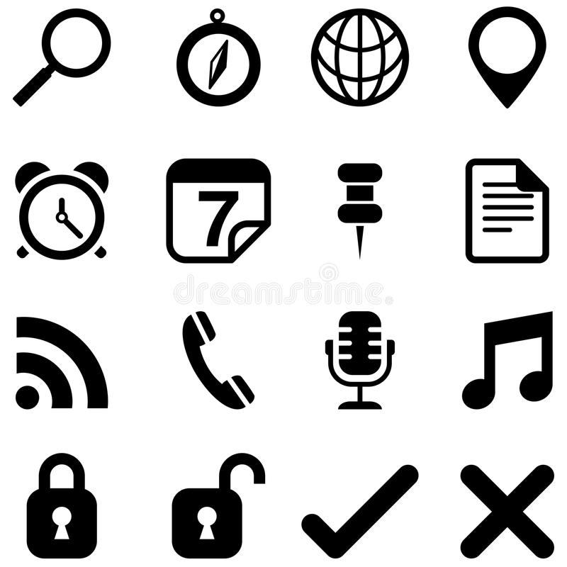 Universal Icons vector illustration