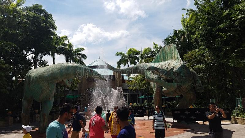 Universal Jurassic Park de Singapur fotos de archivo libres de regalías