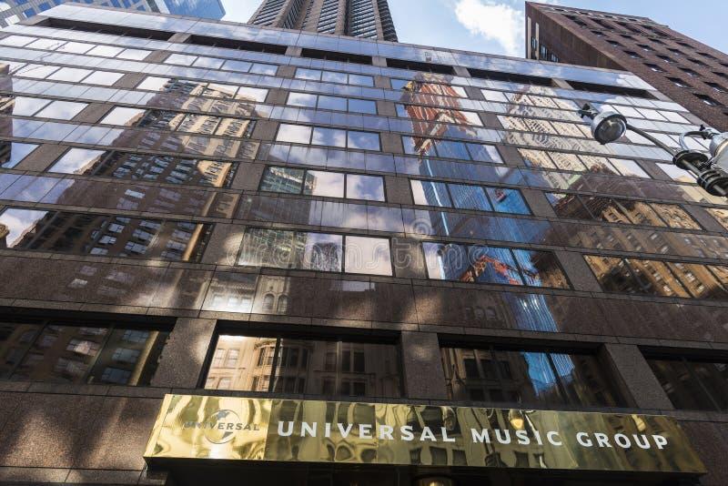 Universal Music Group dans Broadway, Manhattan, New York City, Etats-Unis image libre de droits