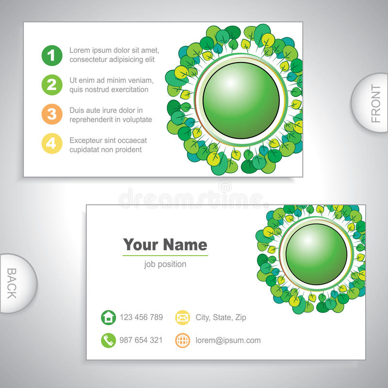 Universal Nature Business Card. Stock Vector - Illustration of ...