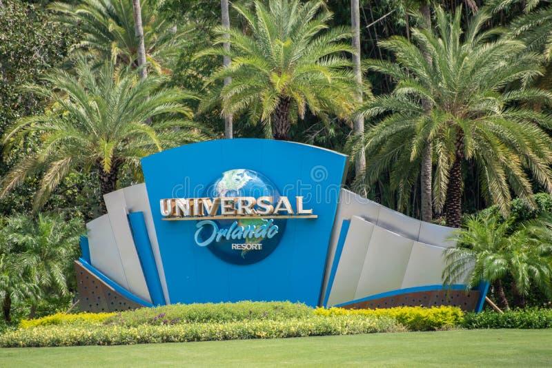 Universal Orlando sign at Universal Studios area 2 stock image