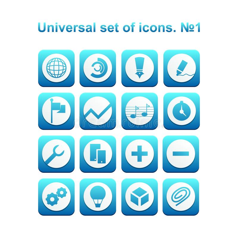 Universal set of icons. A diverse collection of infographics and icons for business vector illustration