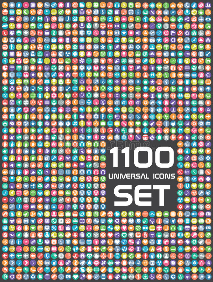 Free Universal Set Of 1100 Icons Stock Photo - 49380910