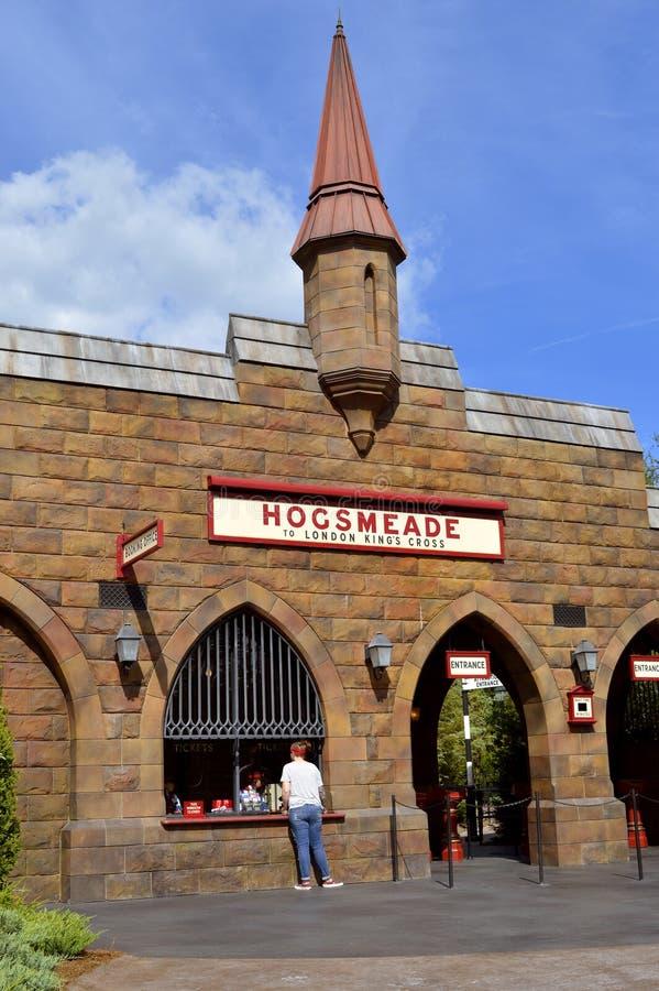 Universal Studio kurortu Hogsmeade dworzec zdjęcie royalty free
